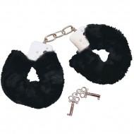 Bad Kitty Black Plush Handcuffs