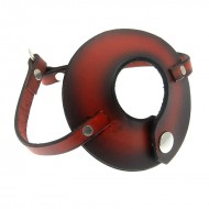 House of Eros Leather Parachute Dark Red