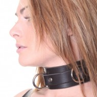 House of Eros Hard Leather Collar